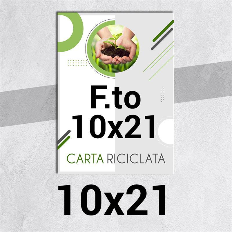 volantini & flyer in carta riciclata f.to 10x21