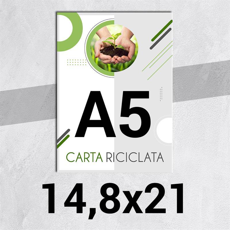 volantini & flyer in carta riciclata f.to a5