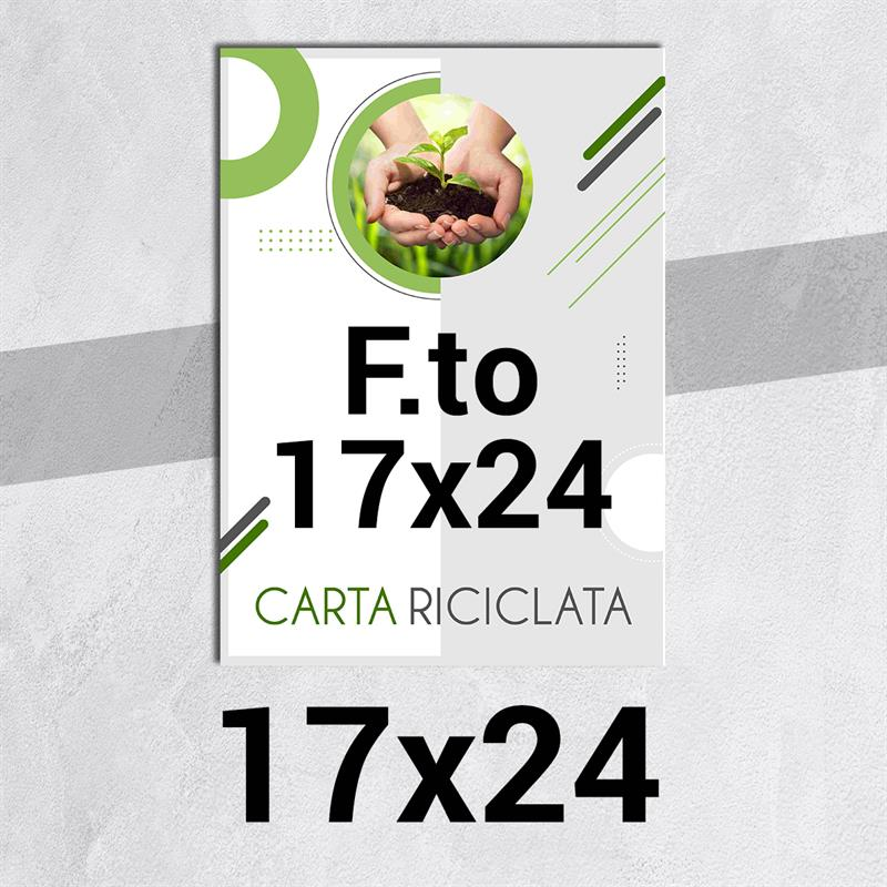 volantini & flyer in carta riciclata f.to 17x24