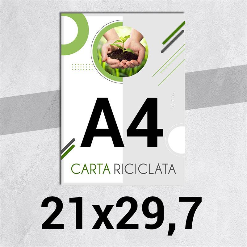 volantini & flyer in carta riciclata f.to a4