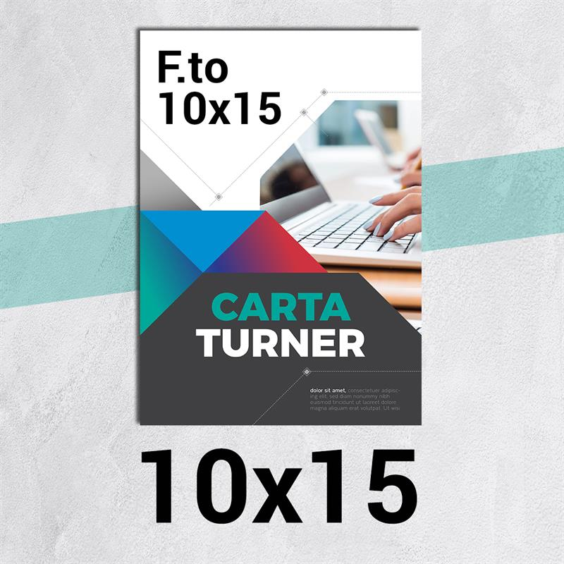 volantini & flyer in carta turner f.to 10x15