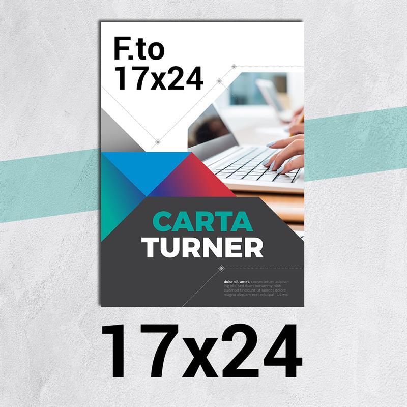 volantini & flyer in carta turner f.to 17x24