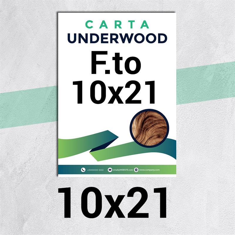 volantini & flyer in carta underwood f.to 10x21