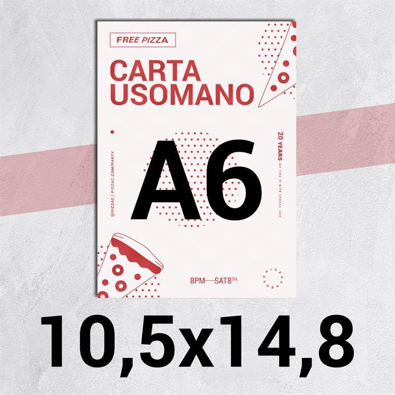 volantini & flyer in carta classic usomano 90gr. f.to a6