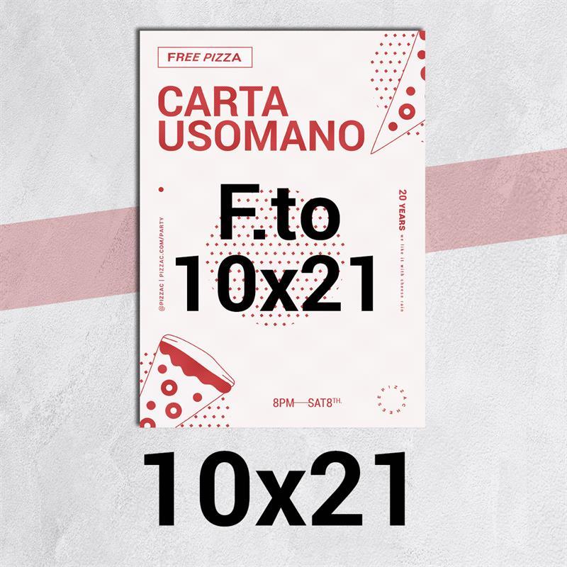 volantini & flyer in carta classic usomano 90 gr. f.to 10x21