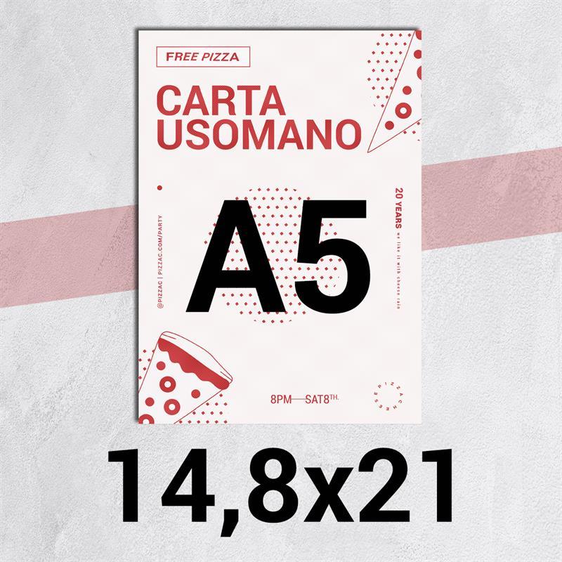 volantini & flyer in carta classic usomano 90 gr. f.to a5