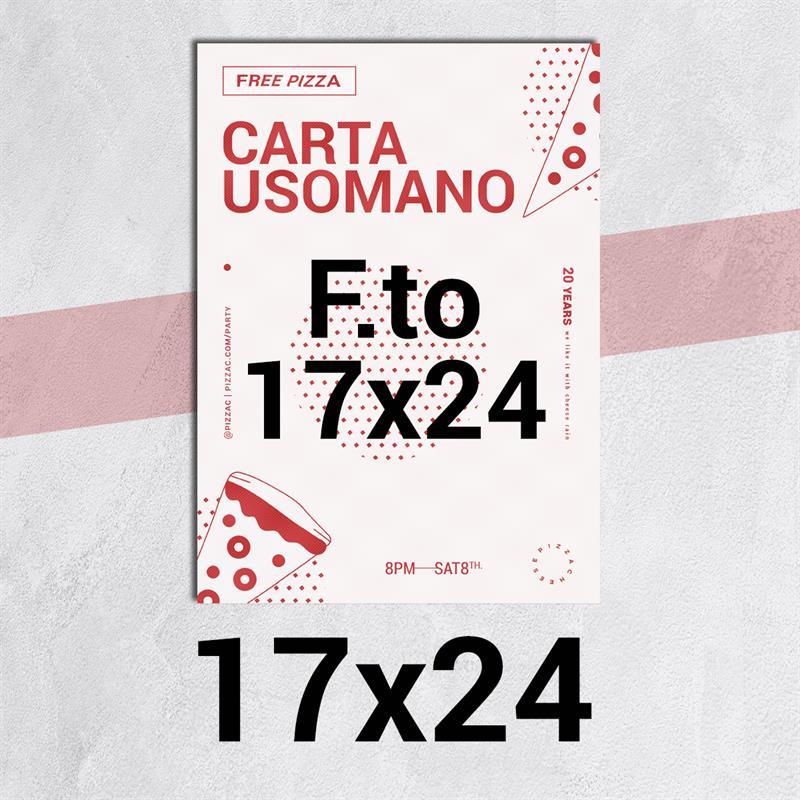 volantini & flyer in carta classic usomano 90 gr. f.to 17x24
