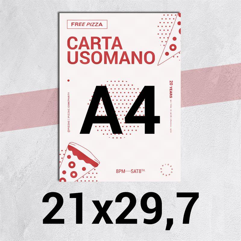 volantini & flyer in carta classic usomano 90 gr. f.to a4