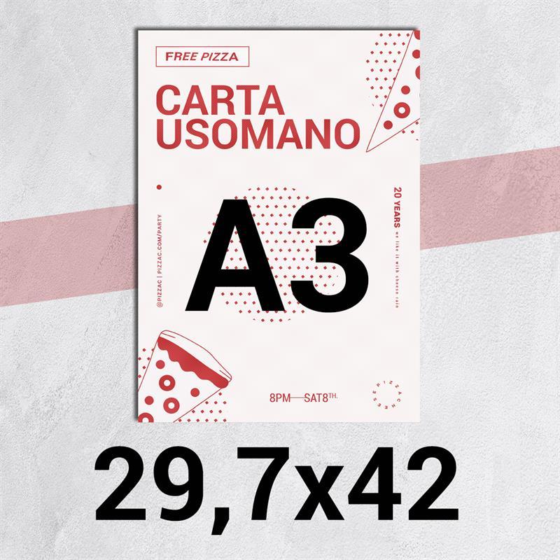 volantini & flyer in carta classic usomano 90 gr. f.to a3