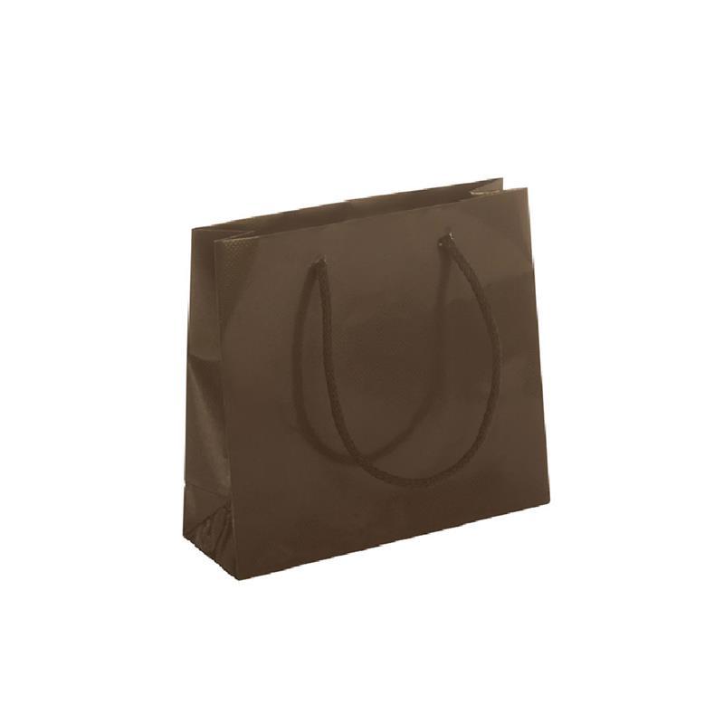 shopper carta patinata bronzo lucido goffratura quadra manico cotone