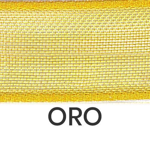 cod. 23-1006 organza con bordi oro