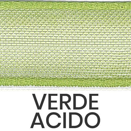 cod. 20-548 organza con bordi verde acido