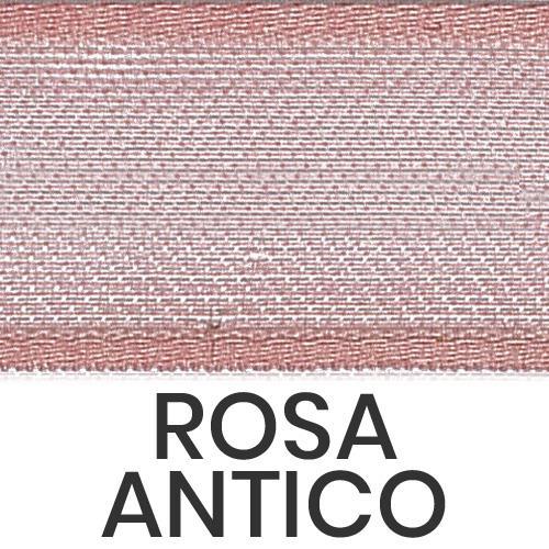 cod. 02-552 organza con bordi rosa antico