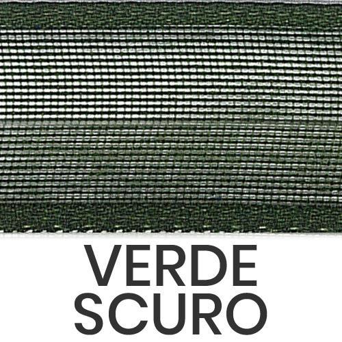 cod. 18-633 organza con bordi verde scuro