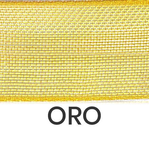 cod. 23-1006 organza senza bordi oro