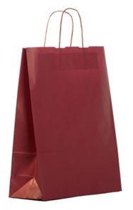 shopper in carta kraft bordeaux manico cordino