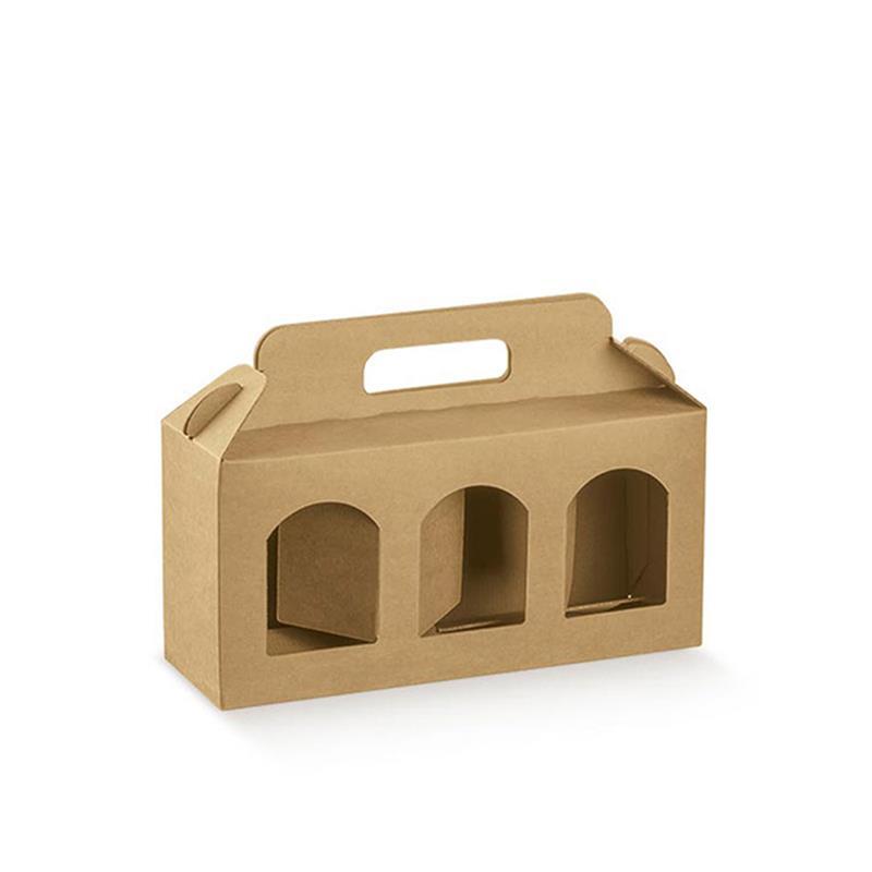 scatola portavasetti con tre finestre