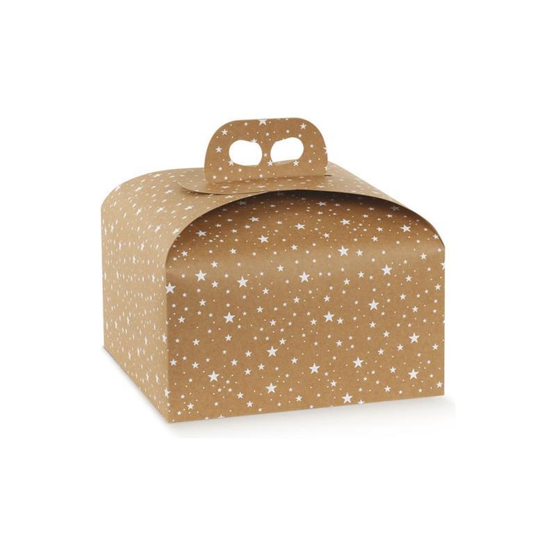 scatola porta panettone da 1kg. fantasia galaxy