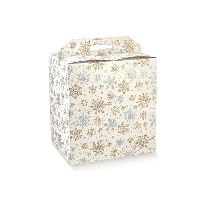 scatola porta panettone e bottiglia fantasia crystal