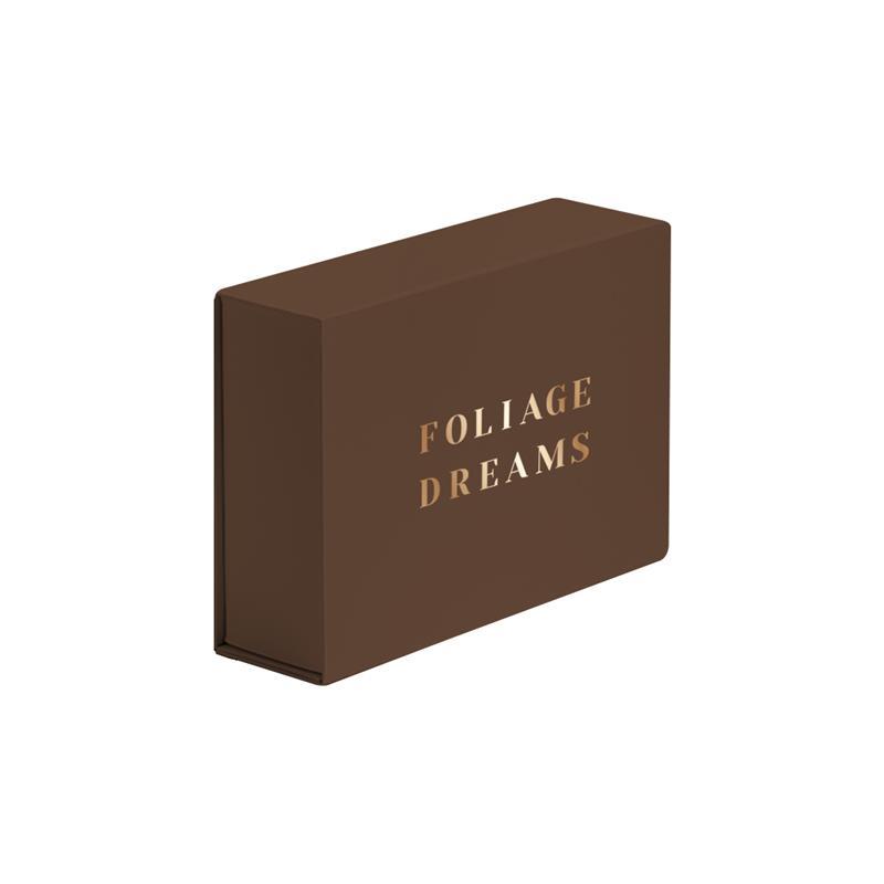 scatola in carta in pasta marrone abbattibile con calamite