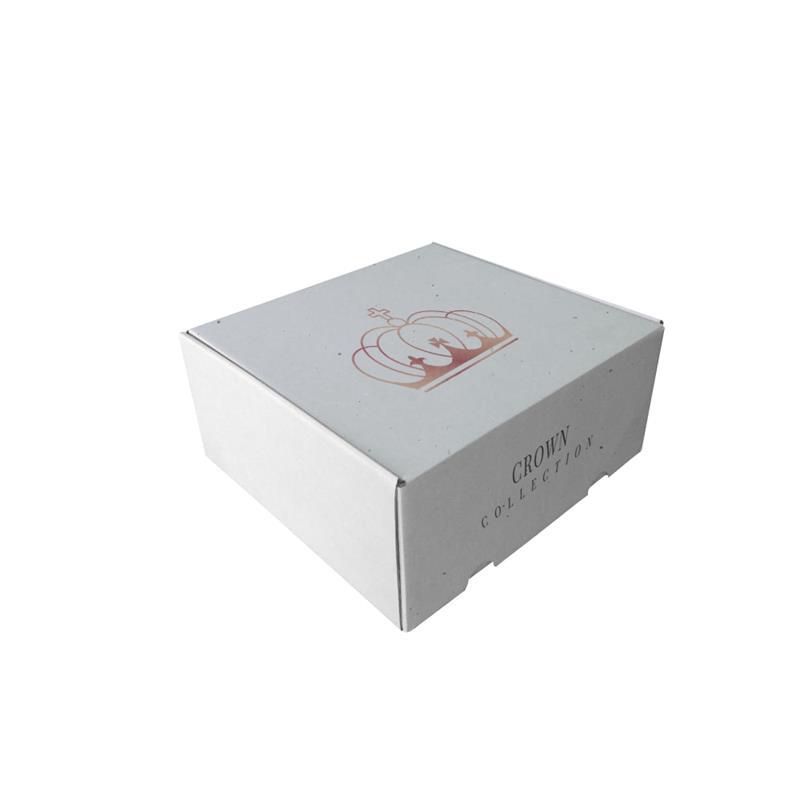 scatola e-commerce in cartoncino micro onda bianco chiusura a incastro