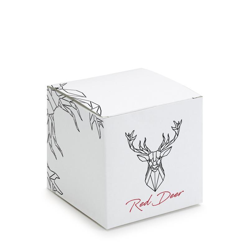 scatola pieghevole in carta in pasta bianca