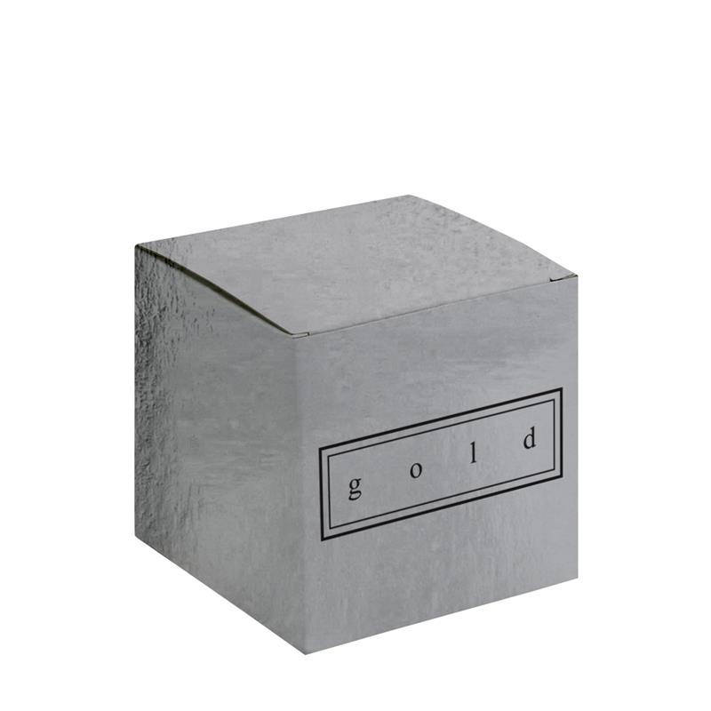 scatola pieghevole in cartoncino plastificato argento