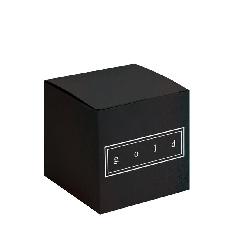 scatola pieghevole in cartoncino plastificato nero