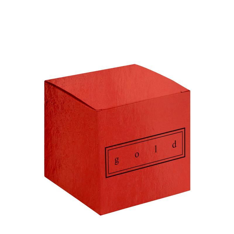scatola pieghevole in cartoncino plastificato rosso