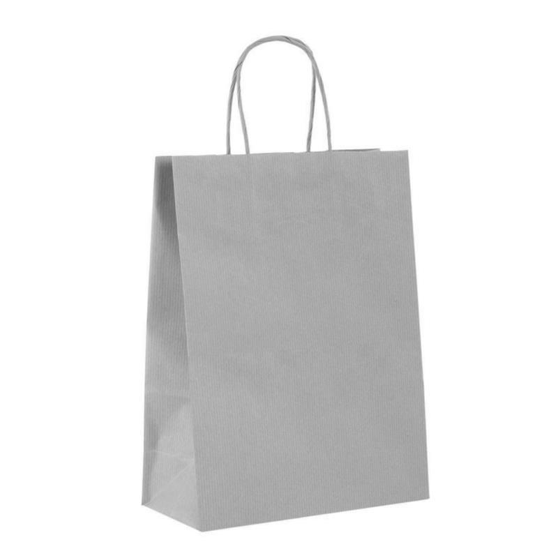 shopper in carta sealing argento manico cordino