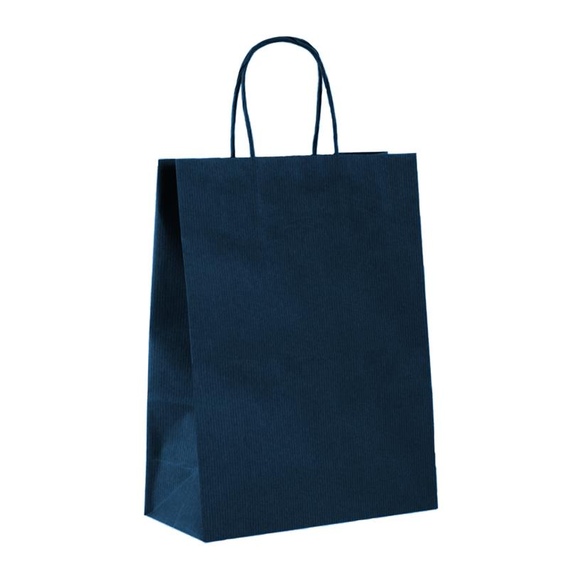 shopper in carta sealing avana blu manico cordino