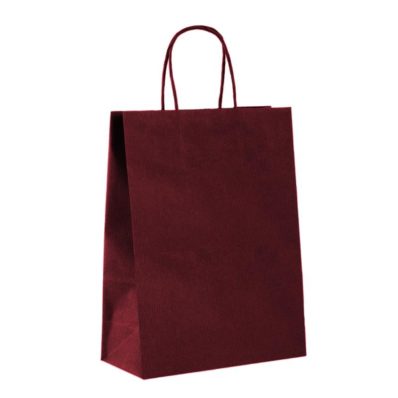 shopper in carta sealing avana bordeaux manico cordino