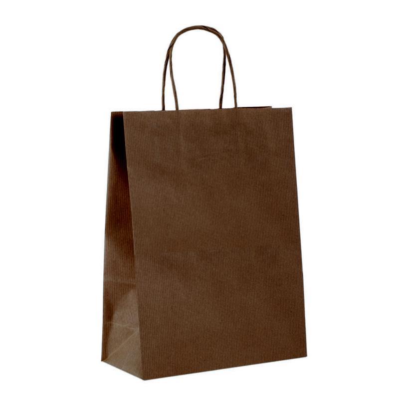 shopper in carta sealing avana caffe manico cordino