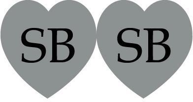 etichetta sagomata cuore doppio silver