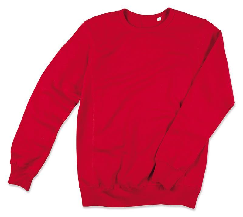 felpa da uomo in cotone e poliestere rosso