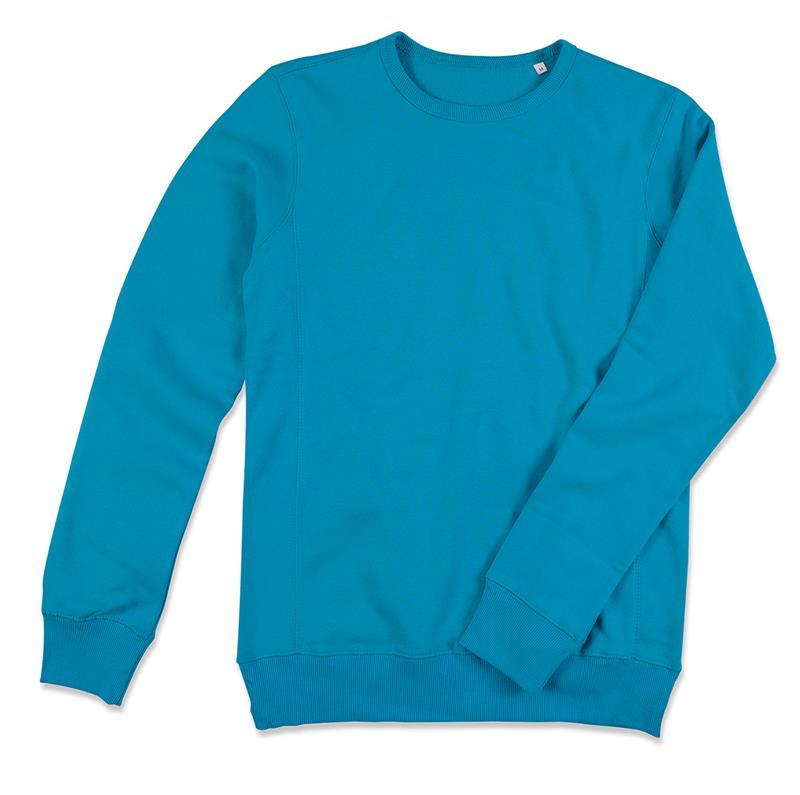 felpa da uomo in cotone e poliestere blu chiaro