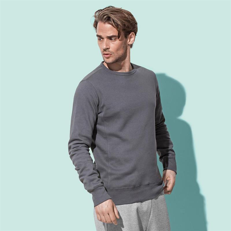 felpa da uomo in cotone e poliestere grigio