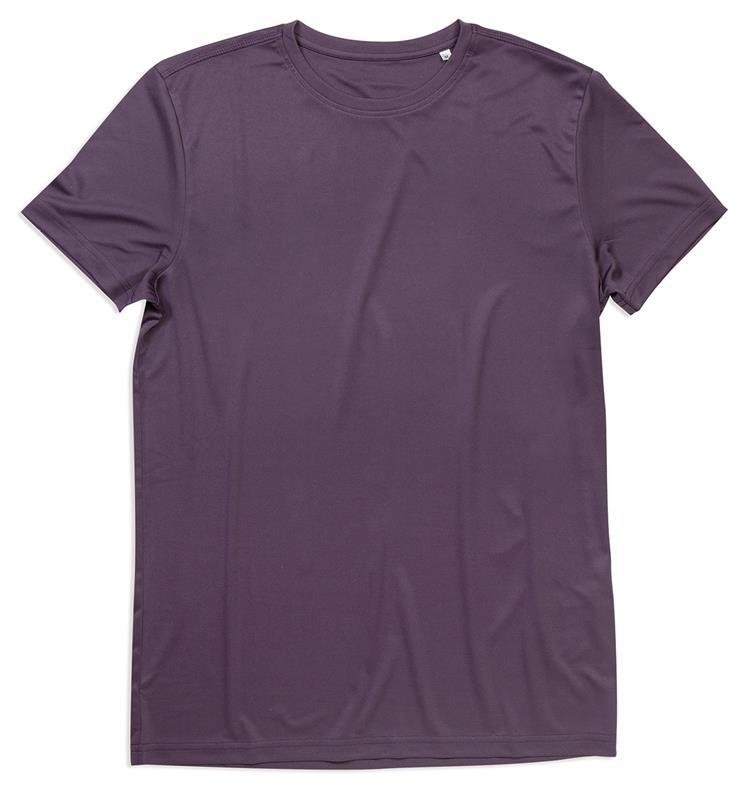 t-shirt con girocollo da uomo in poliestere viola