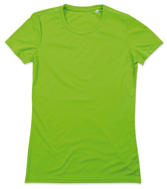 t-shirt con girocollo da donna in poliestere verde kiwi