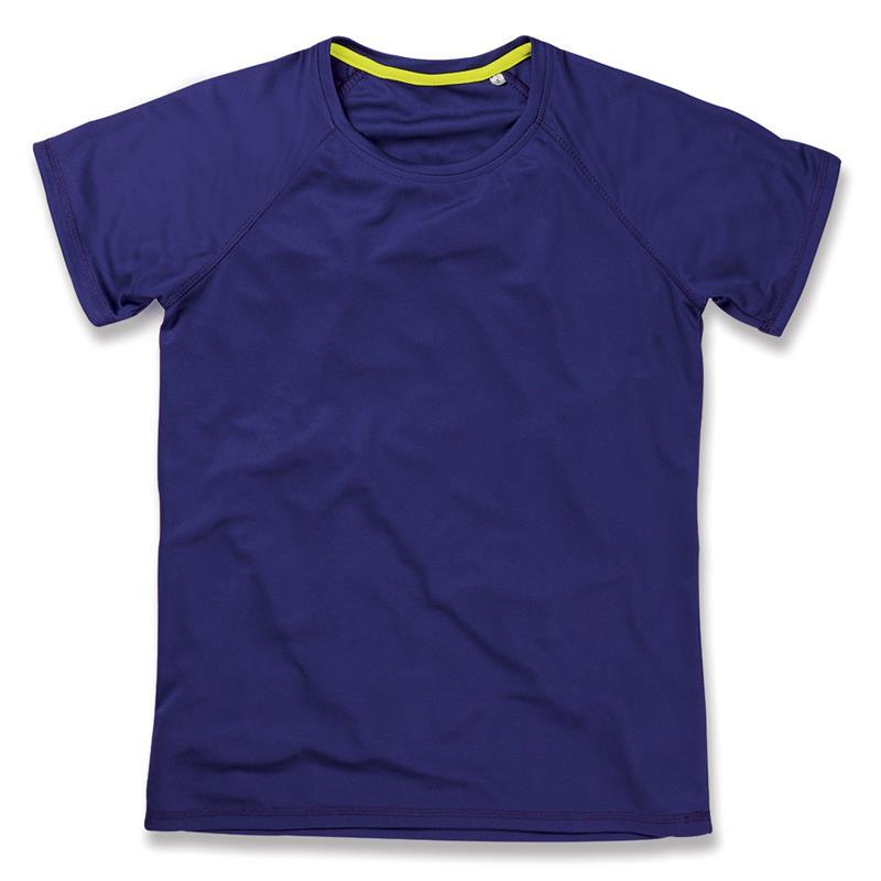 t-shirt da donna in poliestere viola manica raglan