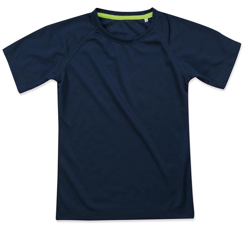 t-shirt da donna in poliestere blu marino manica raglan