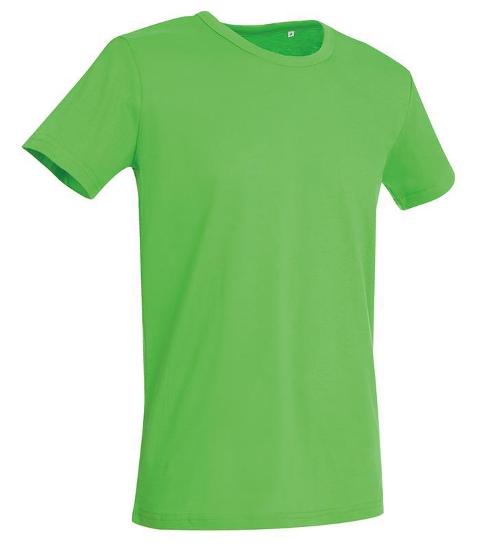 t-shirt da uomo in jersey verde con girocollo
