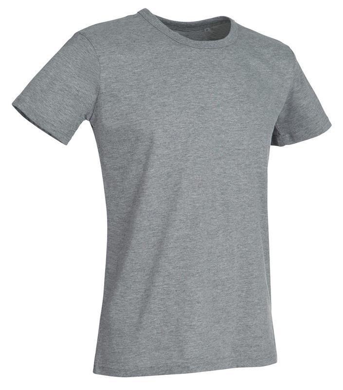 t-shirt da uomo in jersey grigio con girocollo