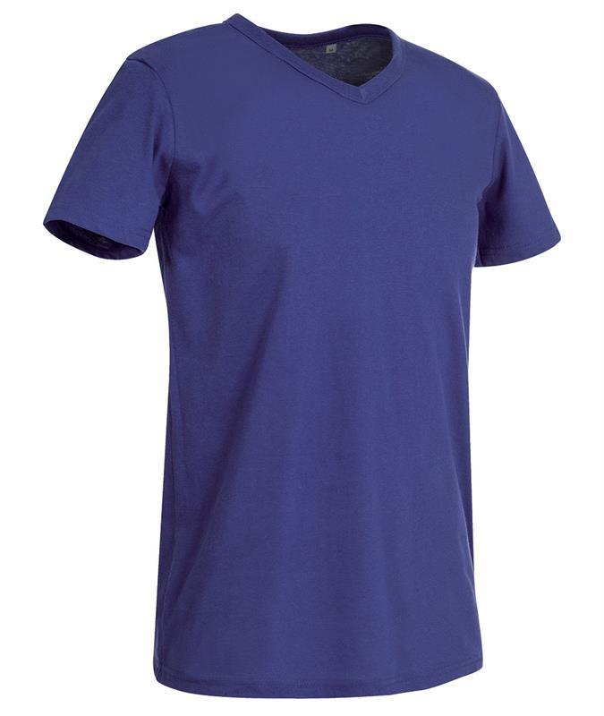 t-shirt da uomo in jersey viola collo a v