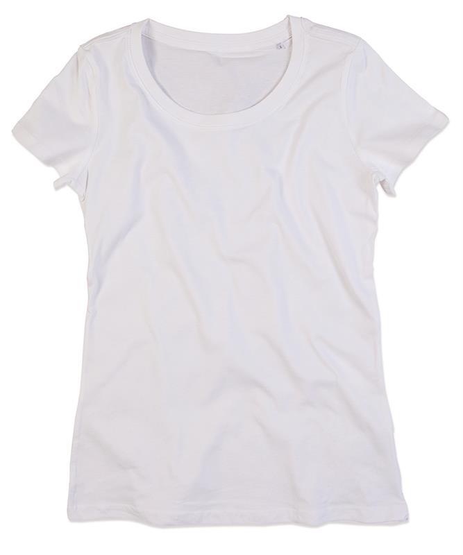 t-shirt da donna in cotone bianco filato ad anelli