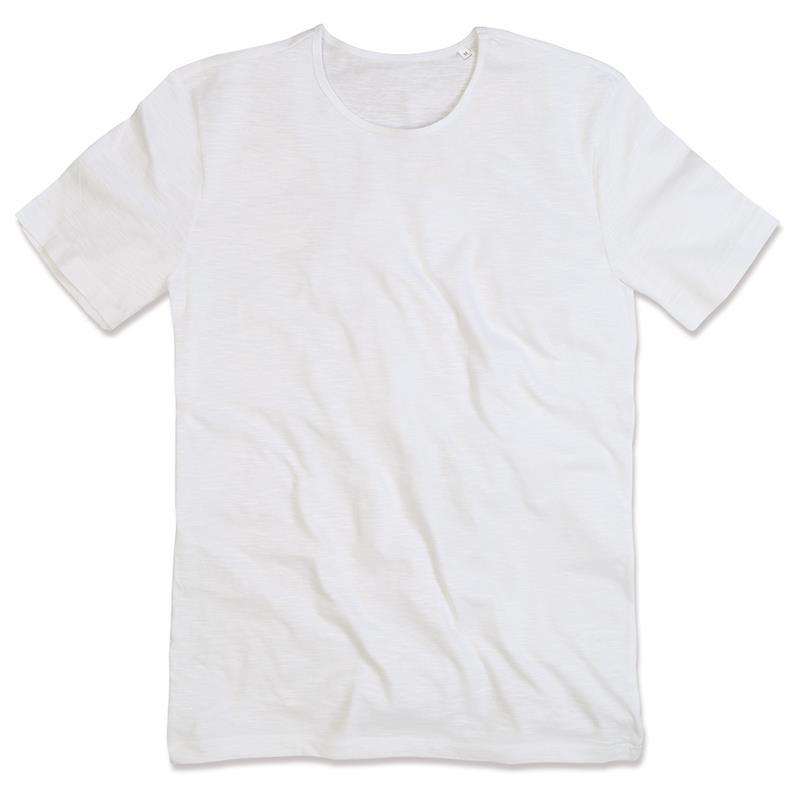 t-shirt da uomo in cotone bianco con girocollo