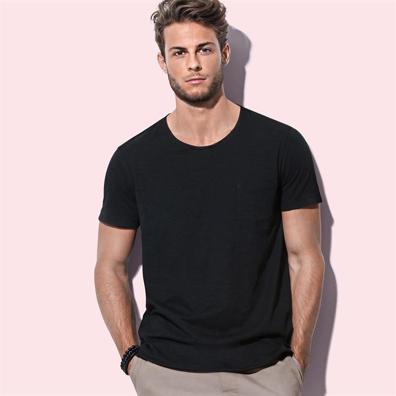 t-shirt oversize da uomo in cotone nero maniche corte