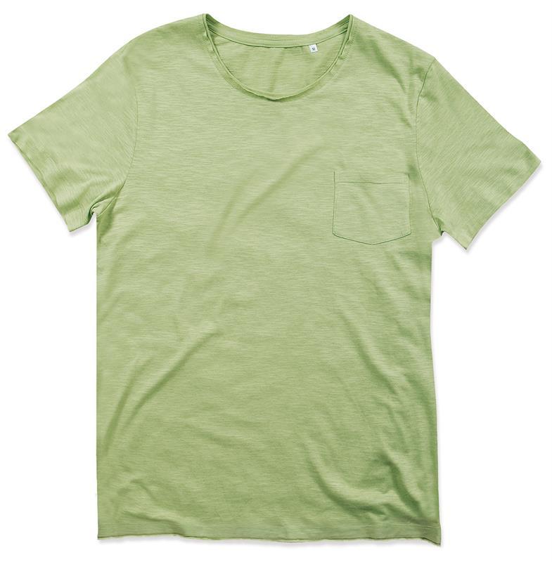 t-shirt oversize da uomo in cotone verde polvere maniche corte