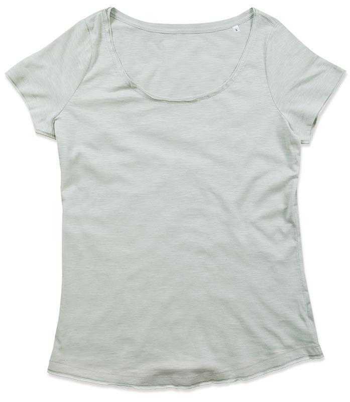 t-shirt oversize da donna in cotone grigio polvere maniche corte