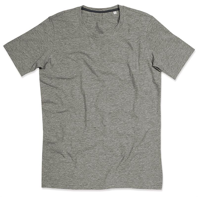 t-shirt da uomo con girocollo in cotton-elastan